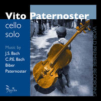[Solo cello works by JS Bach, CPE Bach, Biber and Paternoster by Vito Paternoster]